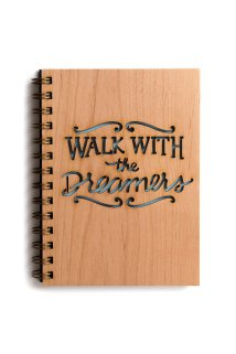 Walk with the Dreamers wood journal