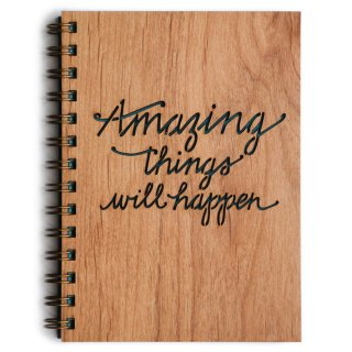 Amazing Things Will Happen wood journal