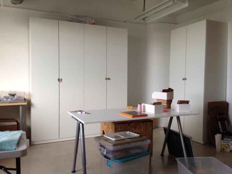 One corner of our new studio