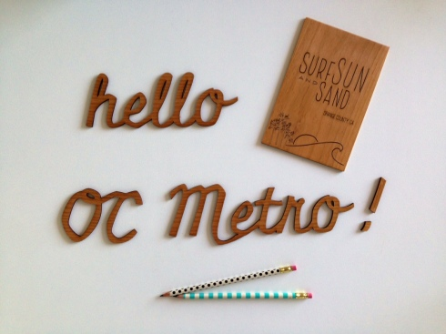 OC Metro Cardtorial lasercut wood
