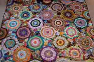 One of mom's quilts!  Her true passion. :)