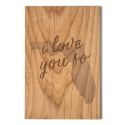 wood Florida card
