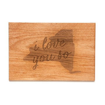 Wooden New York card