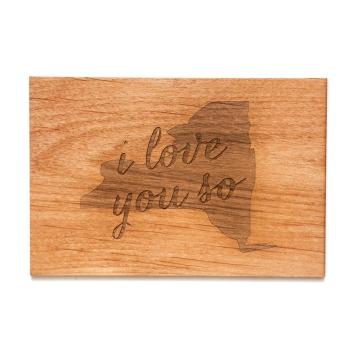 Wooden New York card