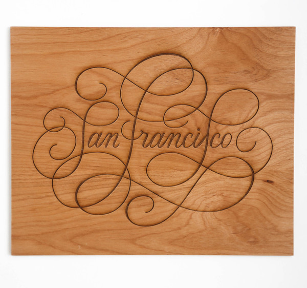 San Francisco Wooden Print