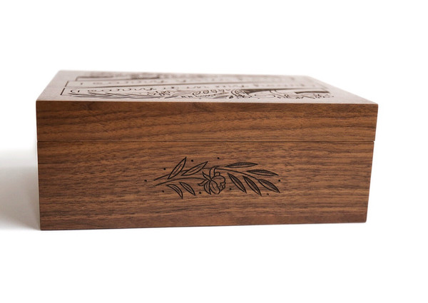 laser cut wood box design