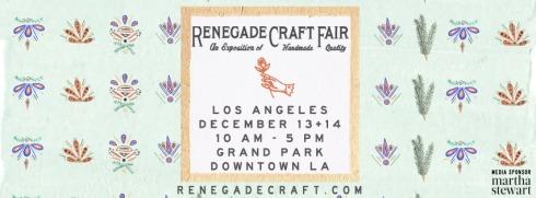 Renegade Craft Fair LA Holiday Banner