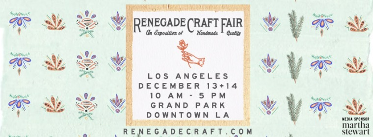 Renegade Craft Fair LA Holiday Banner