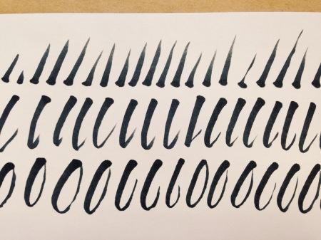 brush lettering strokes