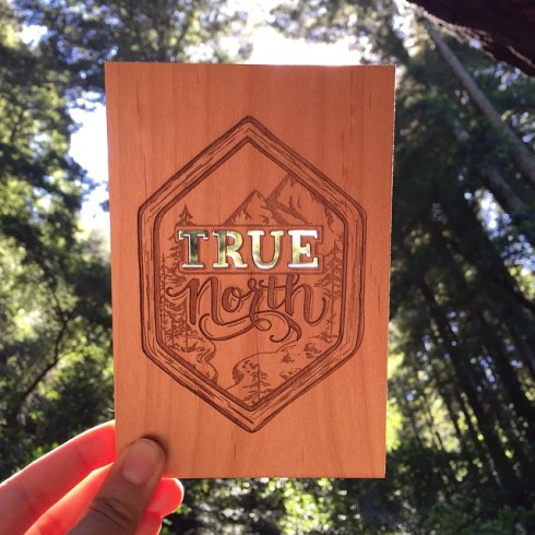 true north wood card